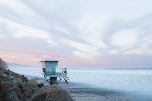 Lifegaurd Station Torrey pines state beach