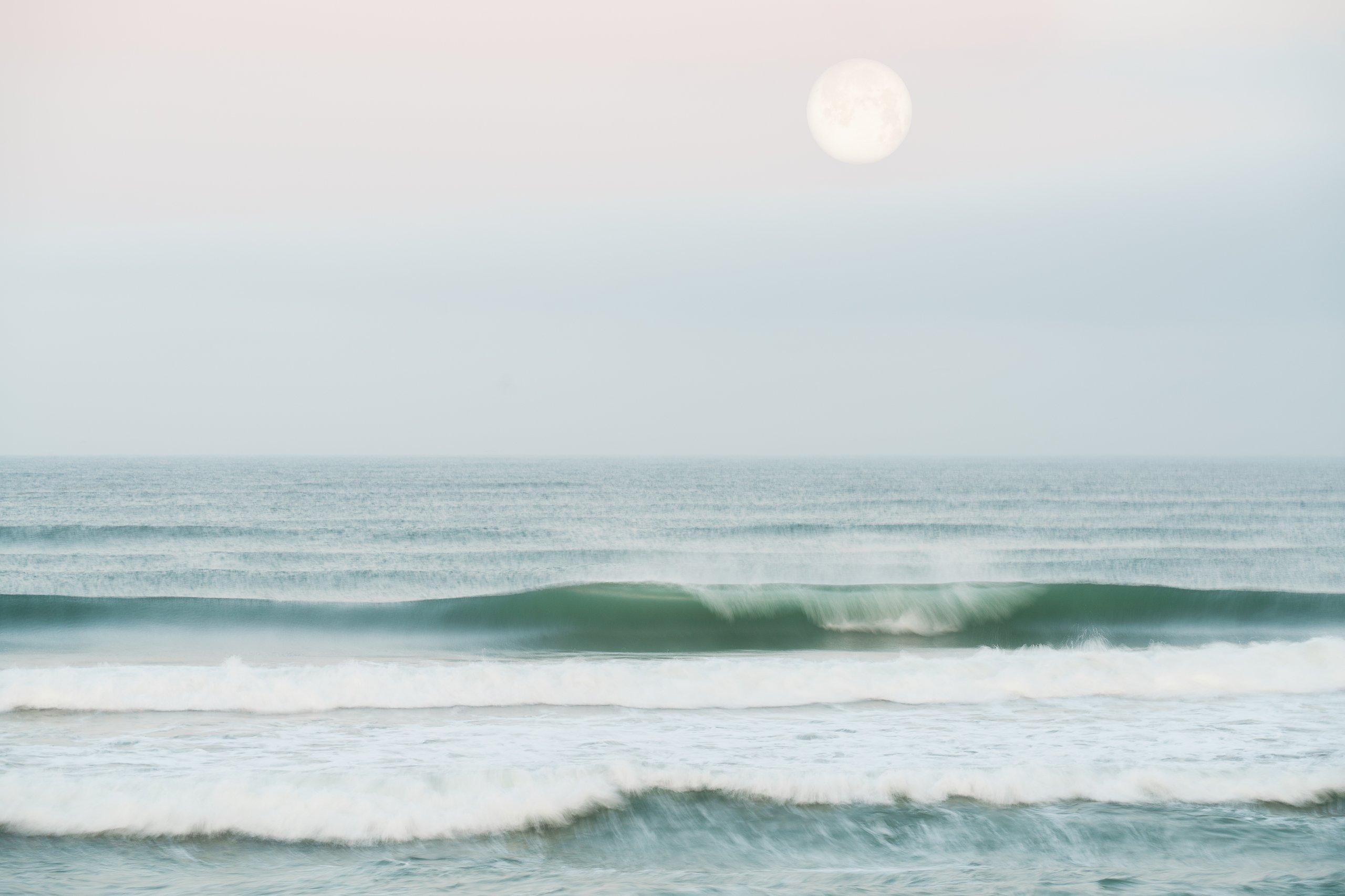 San Diego Beach moonset