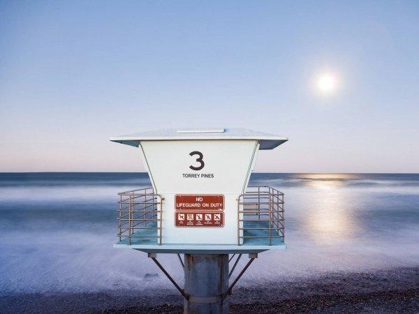 Torrey Pines State Beach Moon et